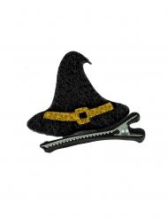 Barrette chapeau de sorcière en feutrine