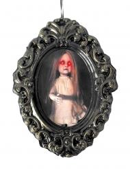 Cadre fillette zombie lumineux 33 x 25 x 2 cm