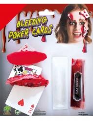 Kit maquillage cartes ensanglantées