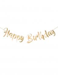 Guirlande happy birthday dorée 1 m
