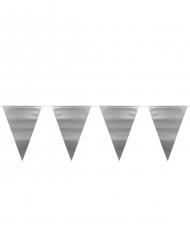 Guirlande fanions argenté métallique 6 m