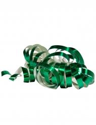 2 Rouleaux de serpentins vert métallique 4 m