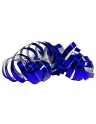 2 Rouleaux de serpentins bleu métallique 4 m