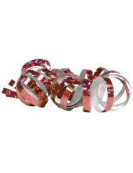 2 Rouleaux de serpentins holographiques roses 4 m
