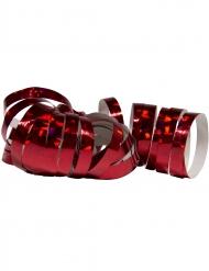 2 Rouleaux de serpentins holographiques rouges 4 m