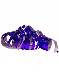 2 Rouleaux de serpentins holographiques violets 4 m
