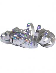 2 Rouleaux de serpentins holographiques argentés 4 m
