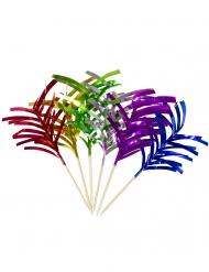 10 pics apéritifs palmiers métalliques 10 cm