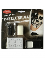 Kit maquillage crâne puzzle adulte