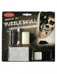 Kit maquillage crâne puzzle adulte