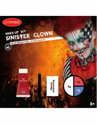 Kit maquillage clown sinistre adulte