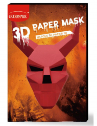 Masque de papier 3D diable adulte