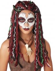 Perruque prêtresse vaudou femme
