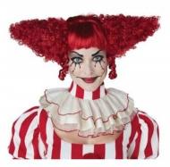Perruque clown psycho rouge femme