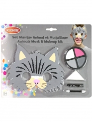 Set masque et maquillage chat enfant