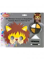 Set masque et maquillage lion enfant