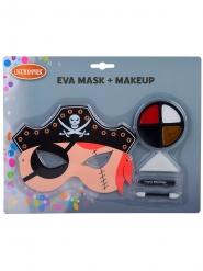 Set masque et maquillage pirate enfant