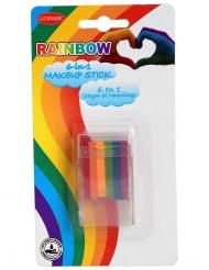 Stick crayon maquillage 6 en 1 arc-en-ciel 7,2 g