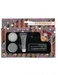 Kit de maquillage gris pailleté