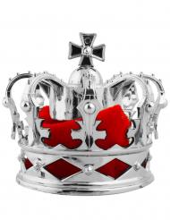 Pince à cheveux mini couronne royale argentée
