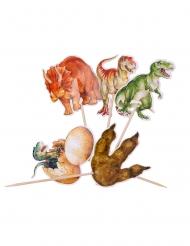 20 Pics en bois dinosaures 12,5 cm