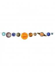 Guirlande en carton système solaire 23 x 243 cm