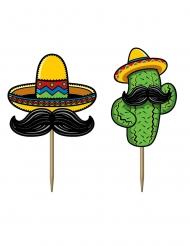 50 Pics en carton fiesta mexicaine 7 cm
