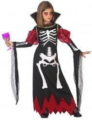 Déguisement vampire squelette fille