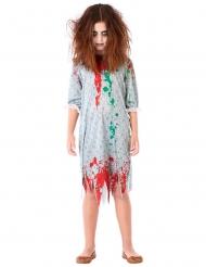 Déguisement zombie chemise de nuit fille