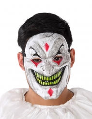 Masque PVC clown démoniaque adulte