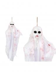 Décoration à suspendre poupée fantôme 50 cm