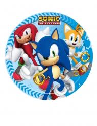 8 Petites assiettes en carton Sonic™ 18 cm
