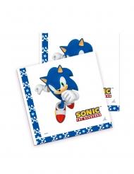 20 Serviettes en papier Sonic™ 33 x 33 cm