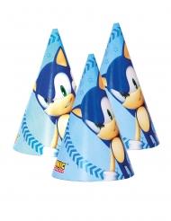 6 Chapeaux de fête en carton Sonic™