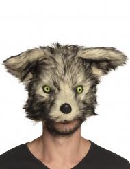 Masque loup-garou peluche adulte