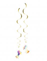 2 Décorations à suspendre Licorne Holo 85 cm