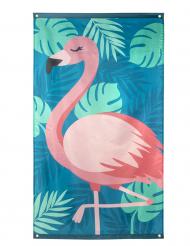 Drapeau Flamant Tropic en tissu 150 x 90 cm