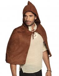 Cape médiévale marron adulte
