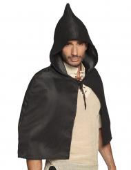 Cape médiévale noire adulte