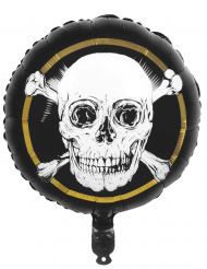 Ballon en aluminium Pirate Jolly Roger 45 cm