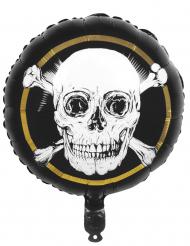 Ballon en aluminium Pirate Jolly Roger 45 cm