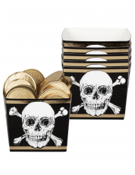 6 Boîtes en carton Pirate Jolly Roger 40 cl