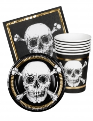 Kit vaisselle 6 personnes Pirate Jolly Roger