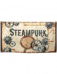 Drapeau à oeillets en tissu Steampunk 90 x 150 cm