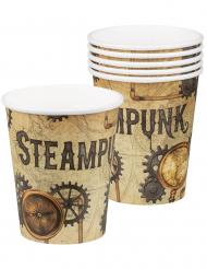 6 Gobelets en carton Steampunk 25 cl