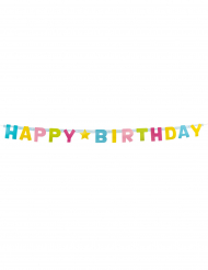 Guirlande lettres Happy Birthday en carton 150 cm
