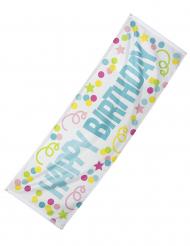 Drapeau à œillets Confettis Happy Birthday en tissu 74 x 220 cm