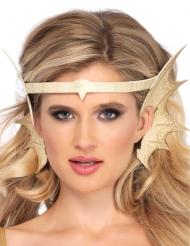 Tour de tête oreilles de sirène dorée femme