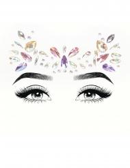 Bijoux pour visage adhésifs pastels