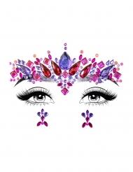Bijoux pour visage adhésifs elektra